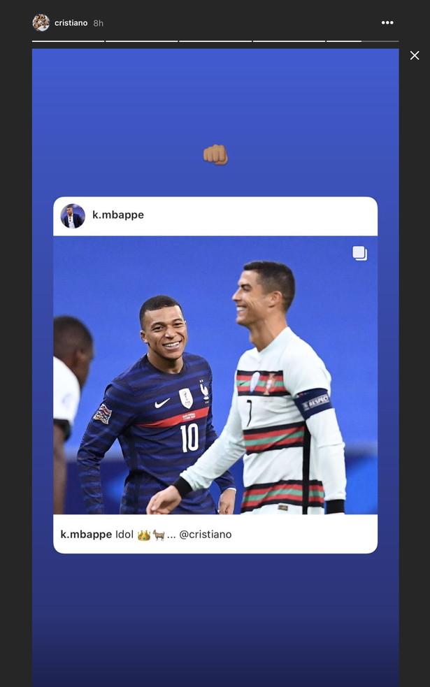 Ronaldo responded to Mbabane with his own message on Instagram