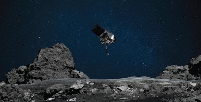 NASA's Osiris-Rex asteroid touches Bennu's surface> ENGINEERING.com