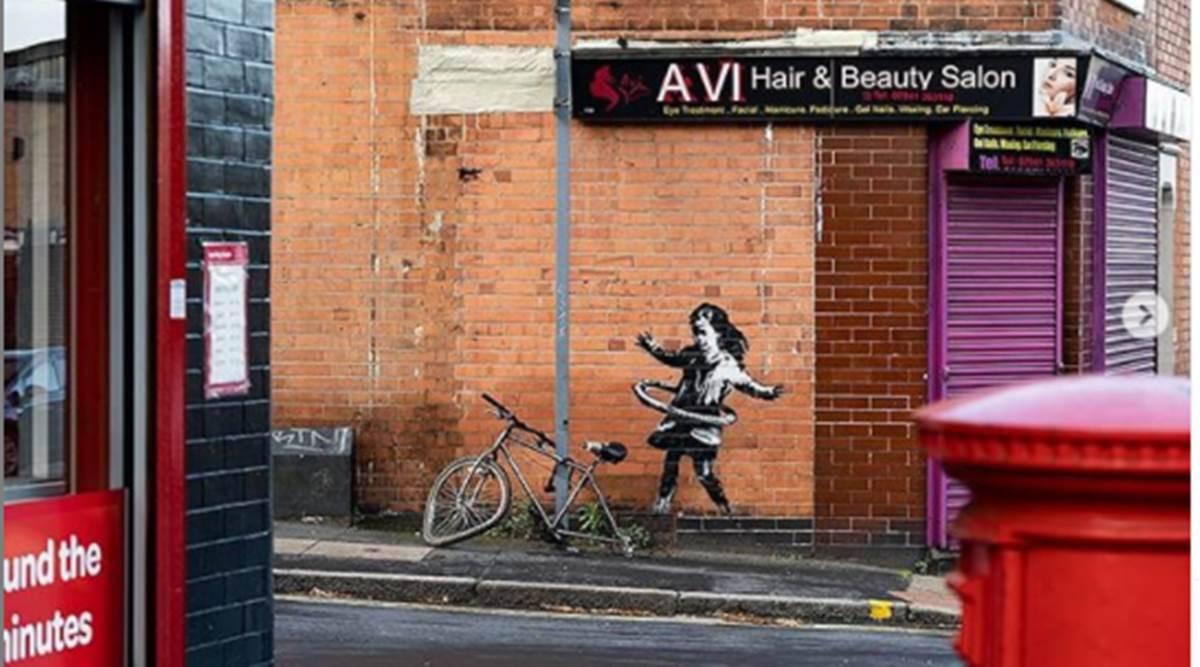 Banksy, Artwork, Nottingham, Indian Express News