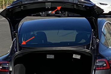 Take a look at the Tesla Model 3 'Refresh' powered lift gate first