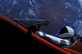 Tesla Roadster and Starman make their first close-up approach to Mars