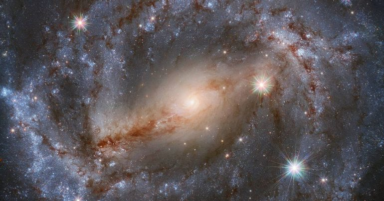 The Hubble Space Telescope stared at this magnificent galaxy for nine hours