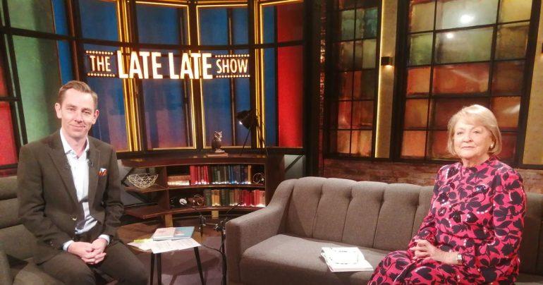 The Late Late Show: Ryan Tubridi did not speak due to the wonderful gestures of Gay Byrne's widow Kathleen Watkins.