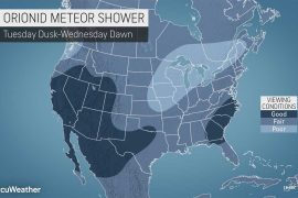 Orionid meteor shower peaks next week
