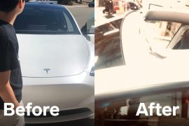The family says the roof of the Tesla Model Y exploded on the way home from the dealership.