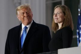 Trump praises 'important day' as Amy Connie Barrett is sworn in before US Supreme Court