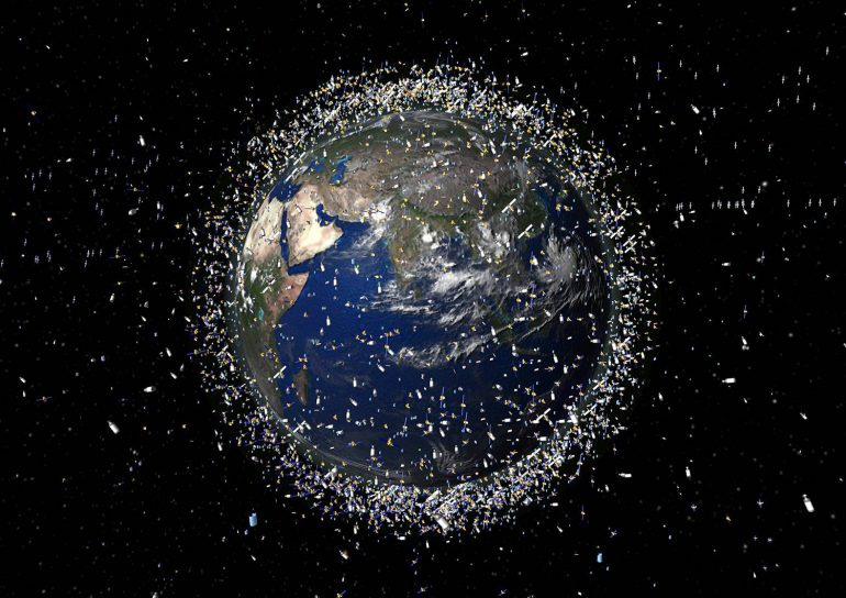Two large chunks of space junk collided with Earth - BGR