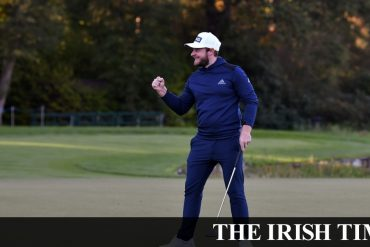 Tyrell Hutton wins BMW PGA after Shane lorry failed to shoot