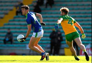 Kerry's David Clifford against Donegal 's Stephen McMahon in the Alliance Football League Division 1 draw at Austin Stock Park in Trolley.  Photo matte brawn / sports file