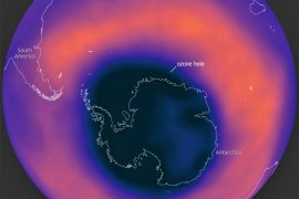 The large and deep Antarctic ozone hole will remain in place until November
