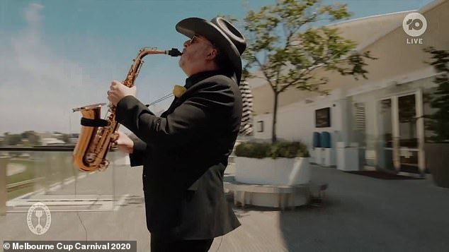 Iconic: There was a saxophonist on stage to perform solo in the movie Never Tear Us Up
