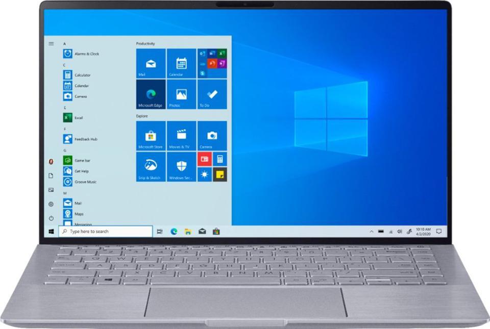 ASUS - Zenbook 14 Laptop - AMD Ryzen 5 - 8GB Memory - NVIDIA GeForce MX350 - 256GB SSD - Light Gray