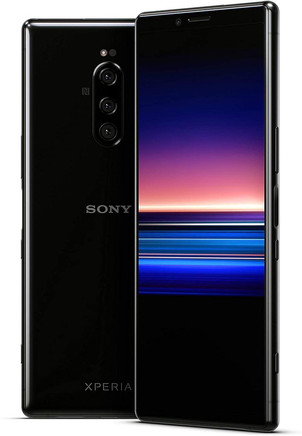 Sony Xperia 1 Unlocked Smartphone 6.5 ″ 4K HDR OLED Cinema Wide Display, 128GB - Black - (US Warranty)