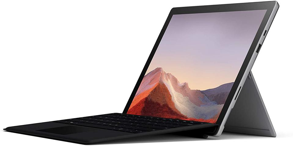 Microsoft Surface Pro 7 - 12.3 Touch Screen - 10th General Intel Core i5 - 8GB Memory - 128GB SSD (Latest Model) - Platinum with Black Type Cover