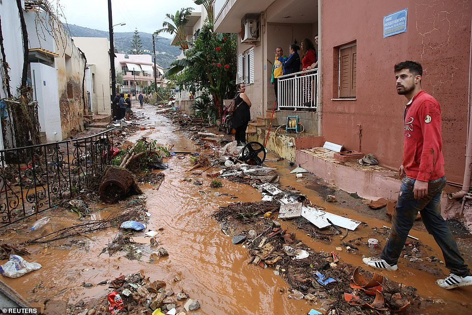 The fire brigade said it had received 230 calls to evacuate rainwater from homes and evacuate people trapped in the floodwaters.