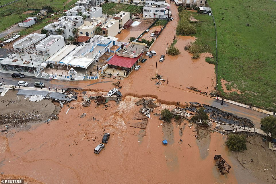 No injuries were reported, but local government officials said the floodwaters damaged the island's road network.
