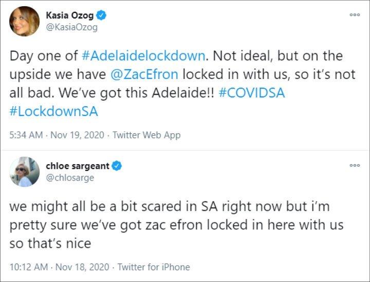 Tweet about Zac Efron