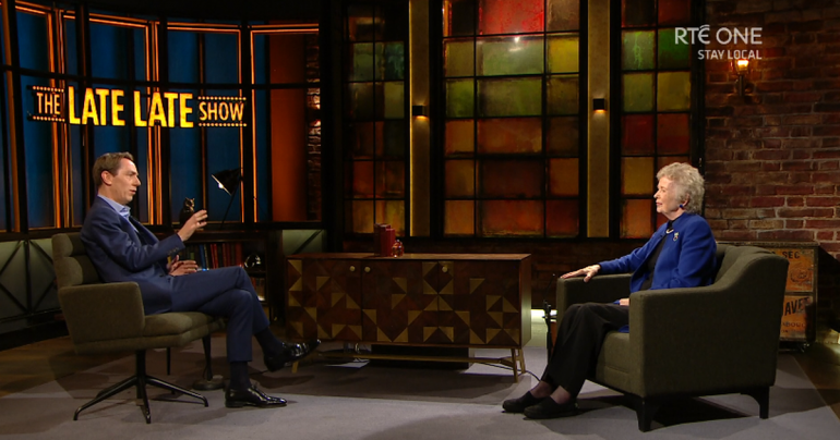 RTE's Late Show: Ryan Tubridi sews on Mary Robinson recalls her fun moment