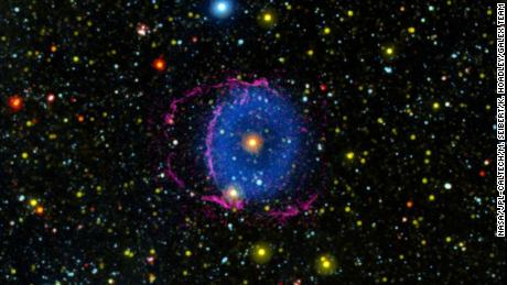 The star merger created the rare Blue Ring Nebula