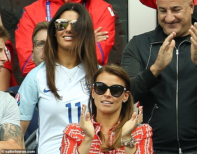 Rebecca Verdi (above) and Colin Rooney meet England v Wales at Euro 2016 at the Stade Bollert-Delilis in Lens, France.  Ms. Rooney, 38, was charged last October with giving false information about her private life.  After months of 'sting operation' he was called 'Vagatha Christie'.