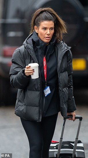 Rebecca Verdi arrived at the National Ice Center in Nottingham last week for a Dancing on Ice 2021 training.