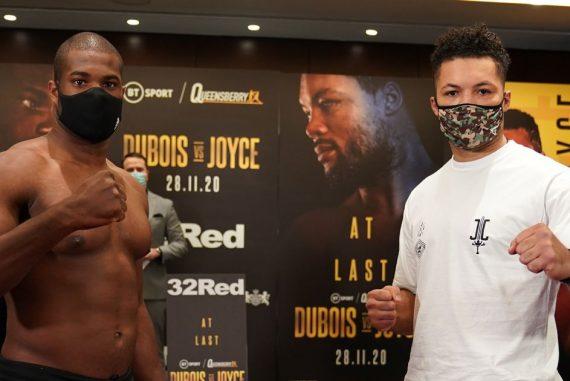 Daniel Dubois vs Joe Joyce Start Time and Undercard Running Order