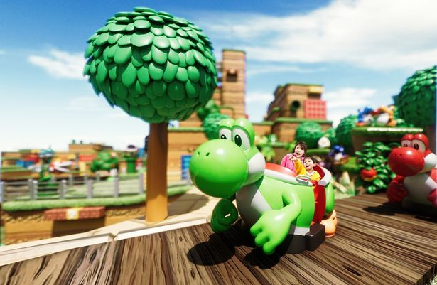 Rendering of the new Yoshi ride
