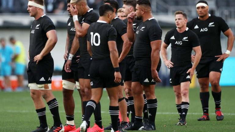 All Blacks v Argentina: Coach Ian Foster is hit by heat following the Sydney Shocker