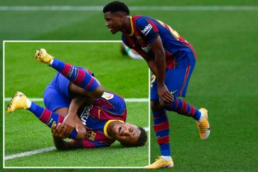 Barcelona have confirmed that Ansu Fathi has been suffering from a serious knee injury for months