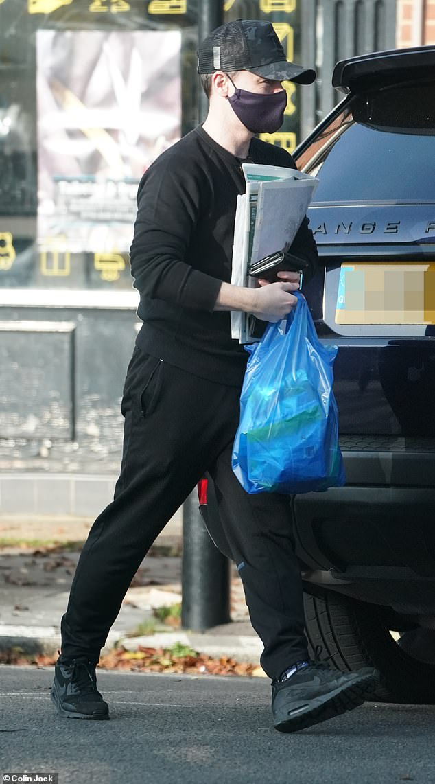 I Am A Celeb: Declan Donnelly was spotted storing groceries in London on Friday for a long road trip to Wales, ahead of the launch of I Am A Celebrity next week