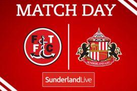 Sunderland take on Fleetwood Town at Highbury Stadium