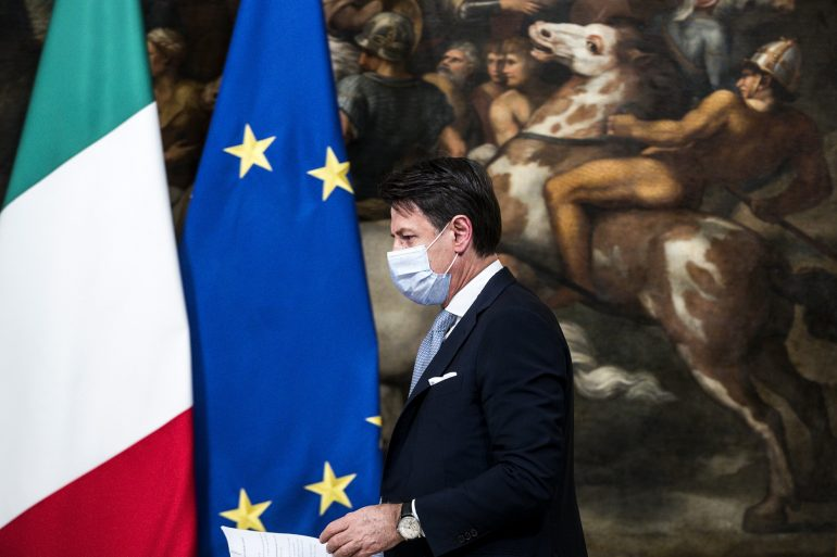 Four Italian territories, including Milan, are closed