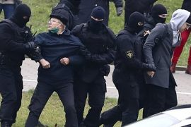 Human rights group says more than 500 people have been arrested in Belarus following protests