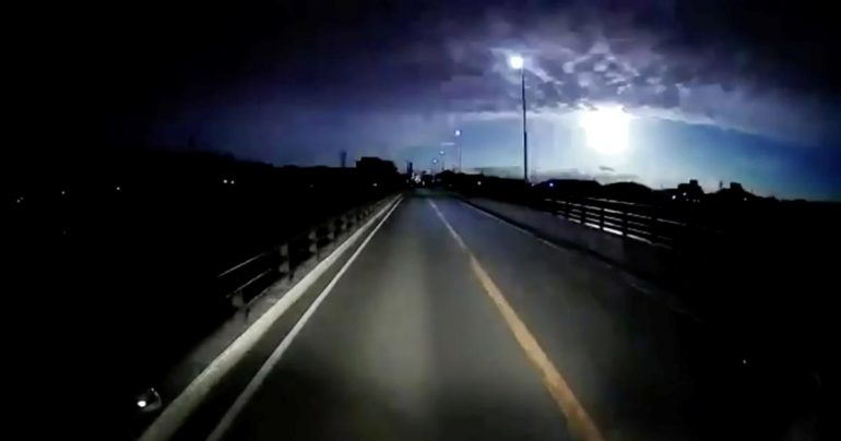 """In Japan, a meteor shower """"shining like a full moon"""" was captured on camera"""