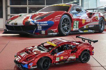 "Lego Technique Ferrari 488 GTE ""AF Course # 51"" Set Revealed In 2021"