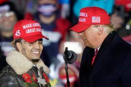 Lynn Pump speaks at the Trump rally, calling it the 'Little Pimp'