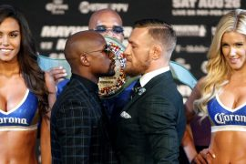On social media, Android Mayweather called him B *** m