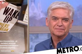 Philip Schofield smashed Pierce Morgan's book on waste disposal