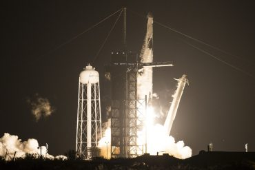 SpaceX launches four astronauts into space station