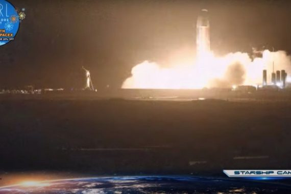 SpaceX's starship SN8 prototype fires engines for third time