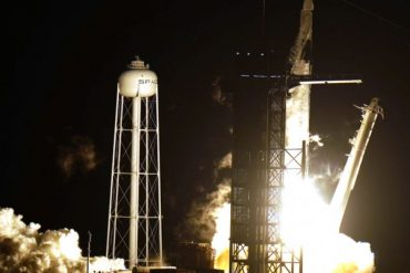 The SpaceX crew is launched to the International Space Station
