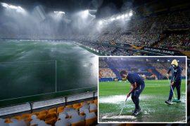 Villarreal vs Maccabi Tel Aviv delayed due to torrential rain in Europa League clash