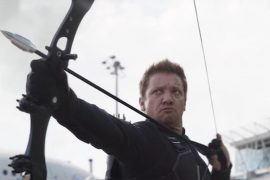 """Jeremy Renner, the hockey star on the series set, is wanted as """"Miss Bishop"""""""