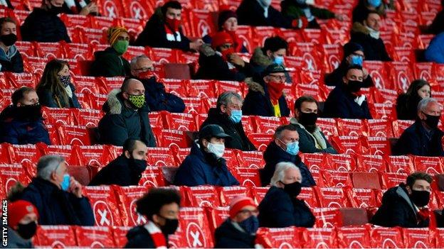 Fans at the Emirates