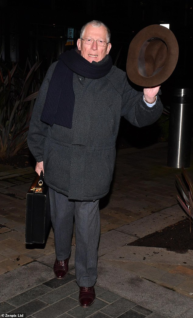 Departure: Nick Hoover cut out a typical personality as he left Countdown Studios on Monday evening after the announcement.