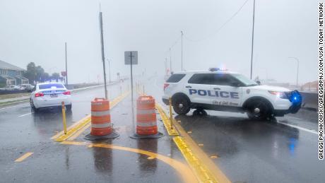 Part of Pensacola's three-mile bridge is missing as Hurricane Sally hits the Gulf Coast