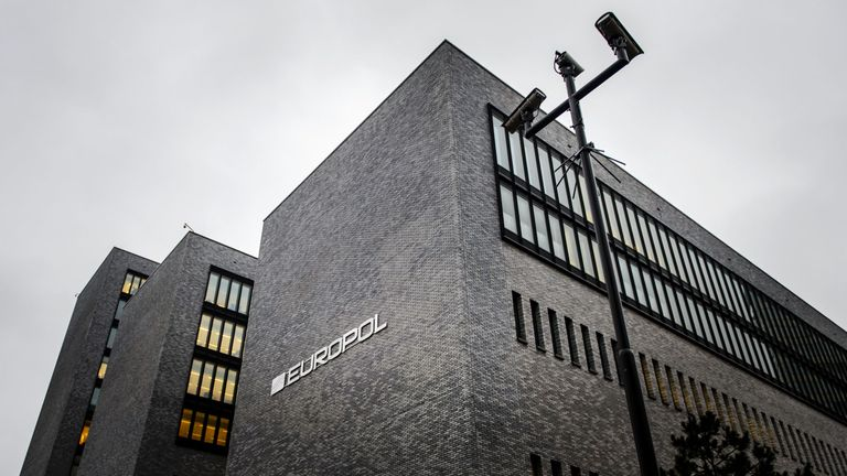 Interpol headquarters in The Hague