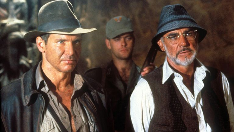 Sean Connery and Harrison Ford of Indiana Jones and the Last Crusade.  Image: Lucasfilm Ltd / Paramount / Koble / Shutterstock