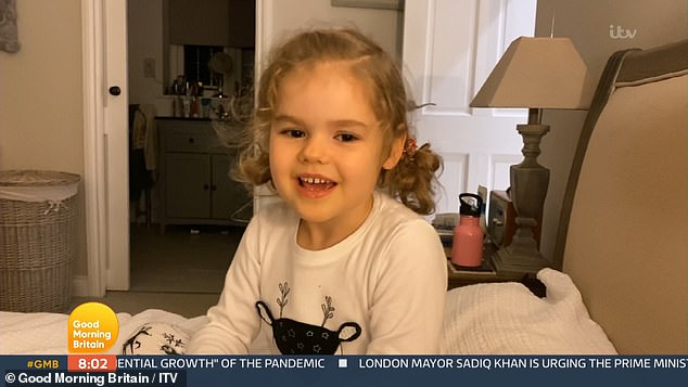 Heart Warming: Later on the show, Charlotte Hawkins caught Pierce's attention when she shared a beautiful video of her daughter Ella Rose (five) singing jingle bells.