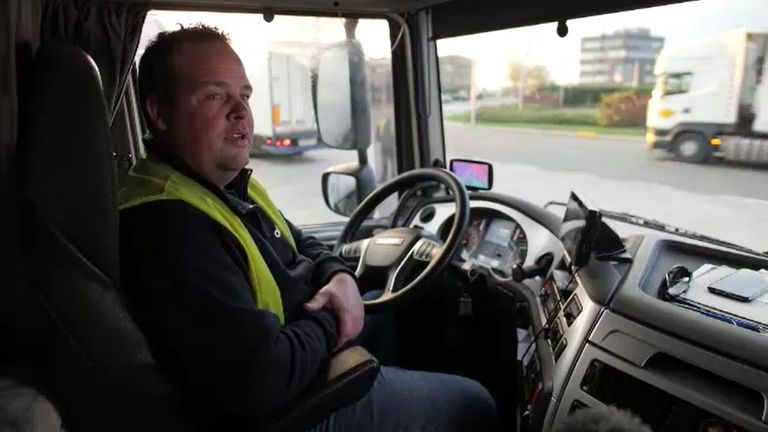 Jeffrey Popma, driver from ABC Logistics in Poldig, near The Hague
